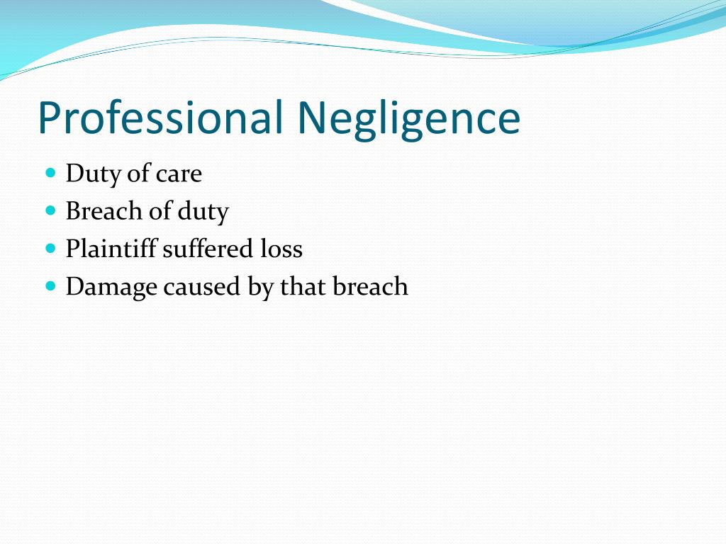 breach of the duty of care Breach of duty of care : the engineer's duty of care in relation to negligence existed alongside the engineer's contractual obligations.
