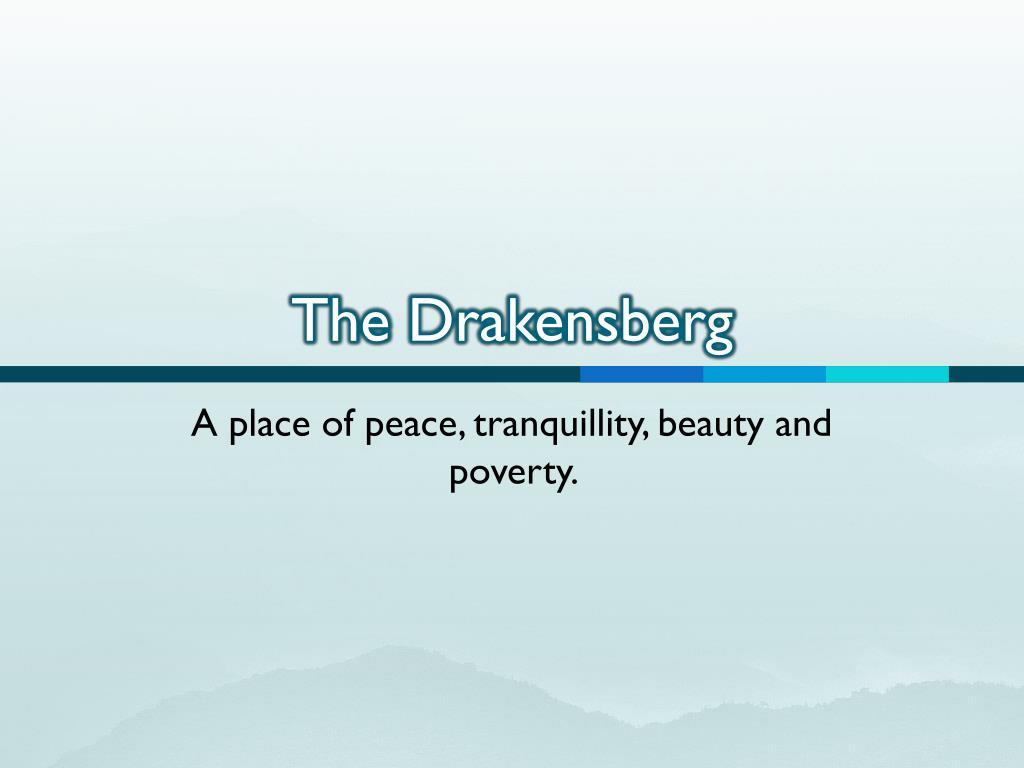 the drakensberg l.