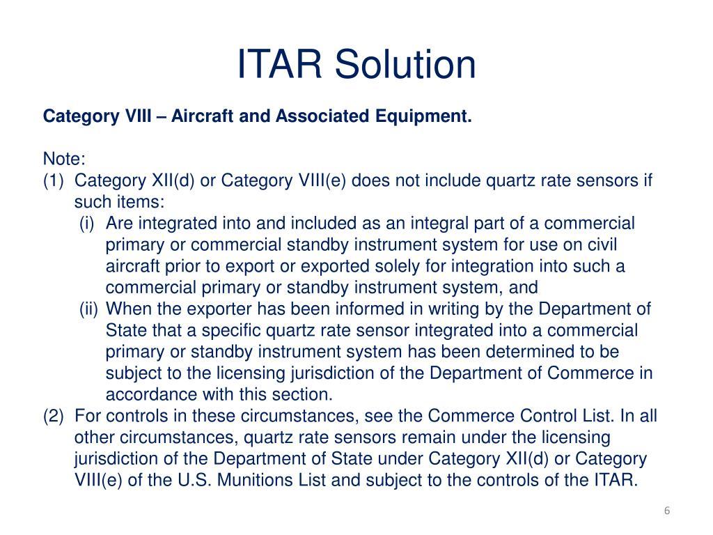 ITAR Solution