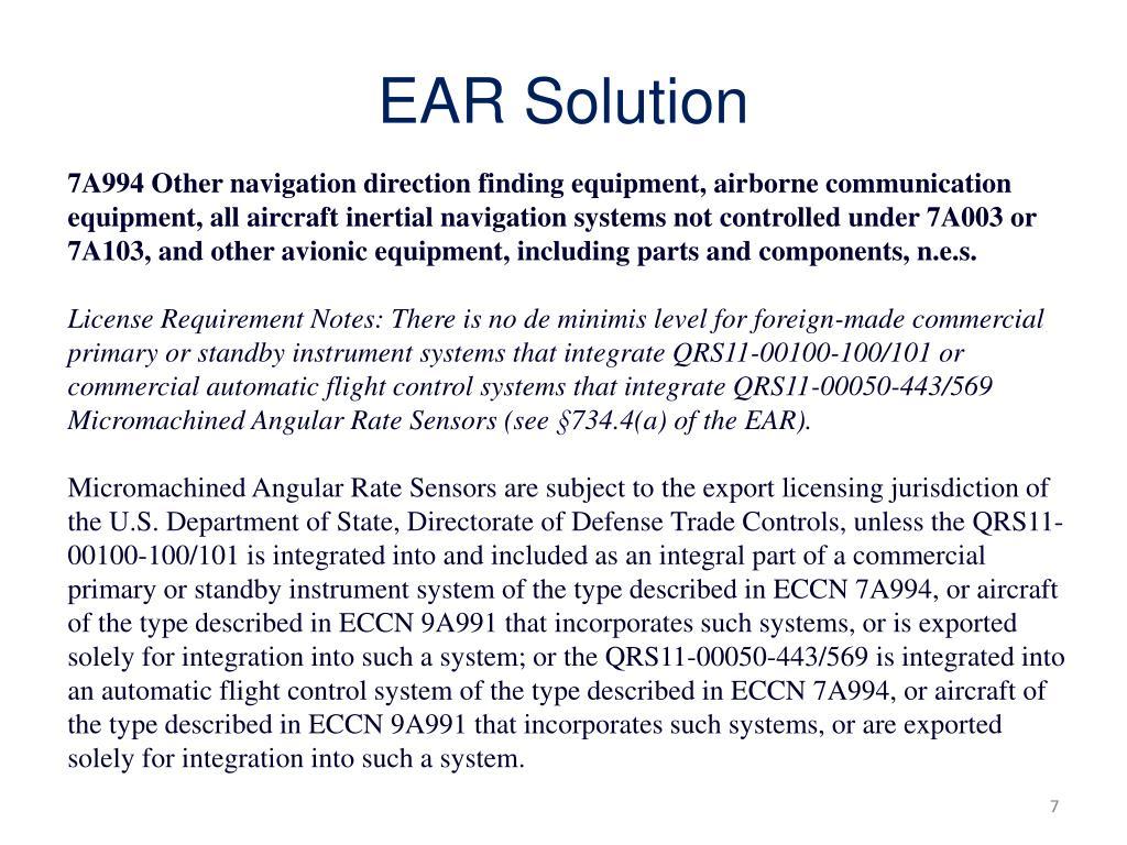 EAR Solution