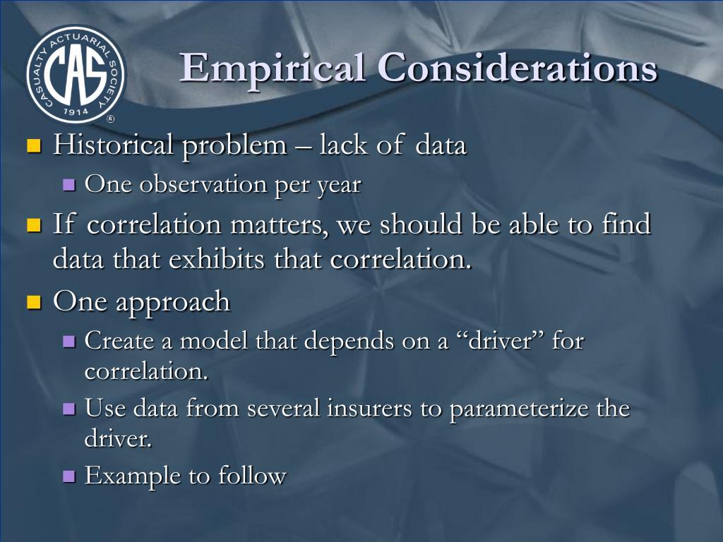 Empirical Considerations