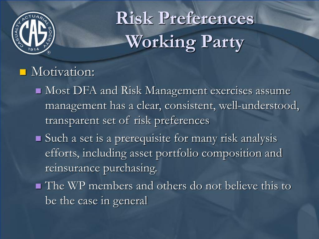 Risk Preferences