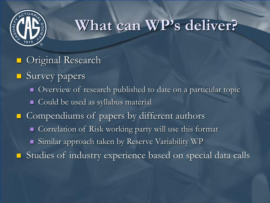 What can WP's deliver?