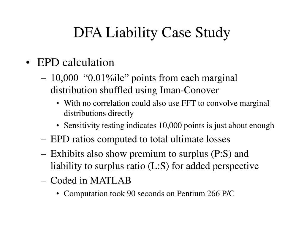 DFA Liability Case Study