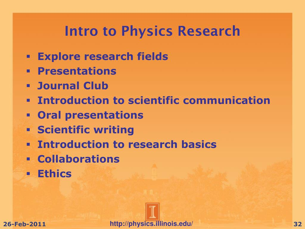 Intro to Physics Research