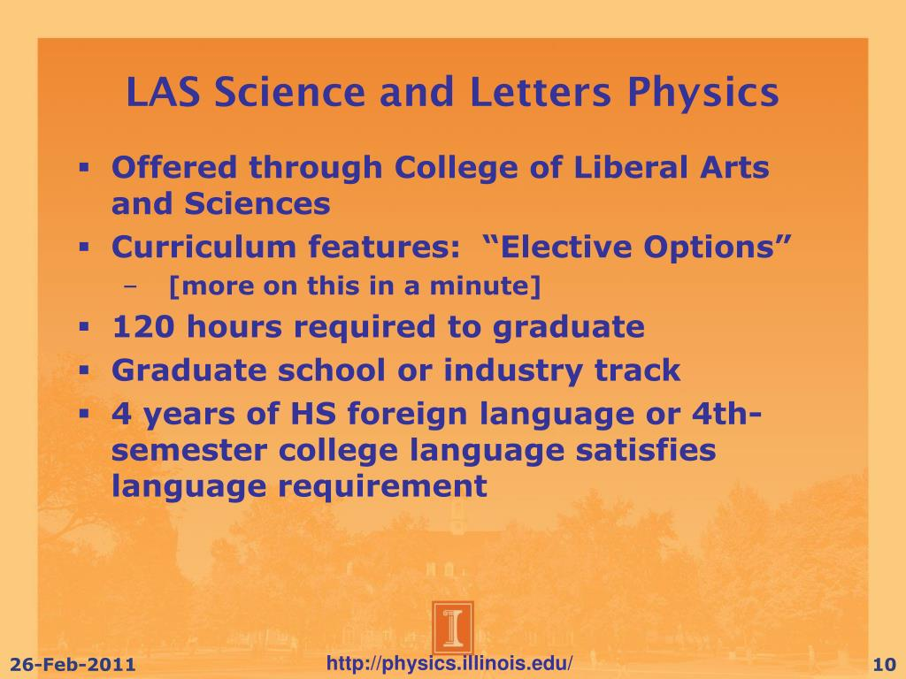 LAS Science and Letters Physics