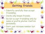 getting friends