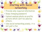 starting with social networking6