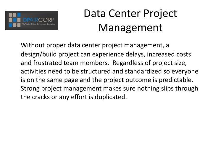 Data center project management2