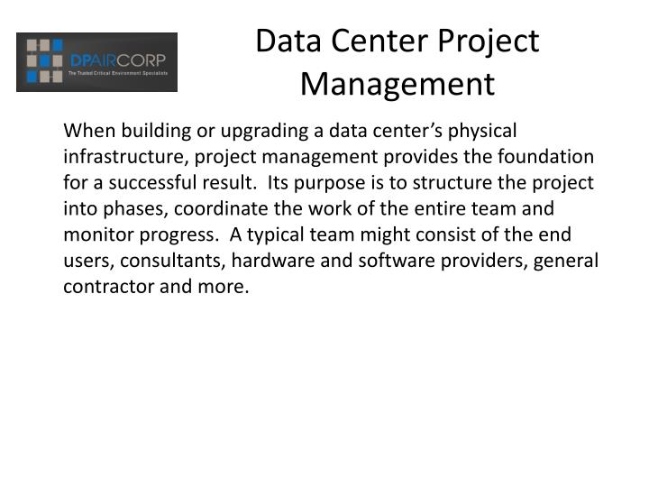 Data center project management3