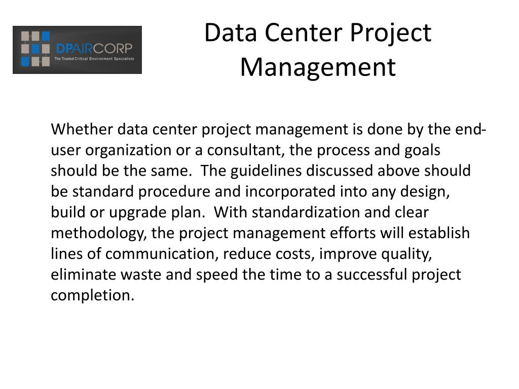 Data Center Project Management