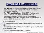 from fda to asco cap
