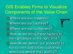 gis enables firms to visualize components of the value chain