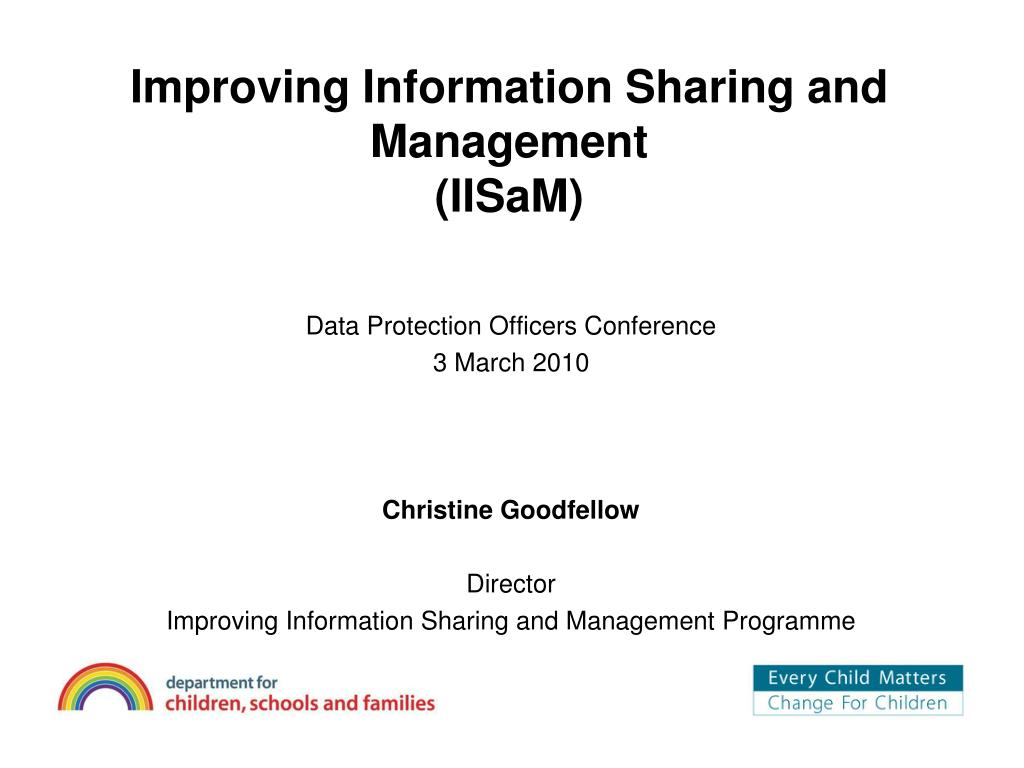 Improving Information Sharing and Management