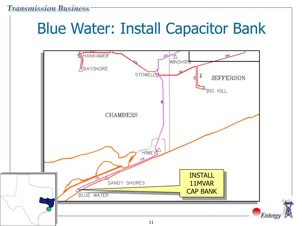 Blue Water: Install Capacitor Bank