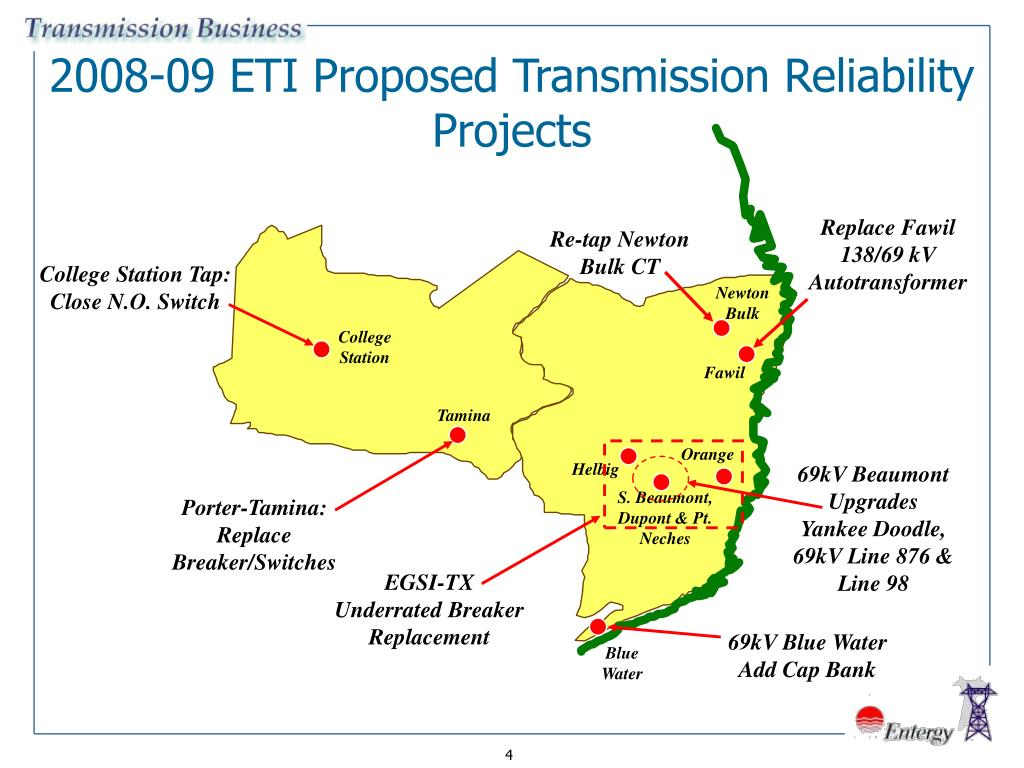 2008-09 ETI Proposed Transmission Reliability Projects