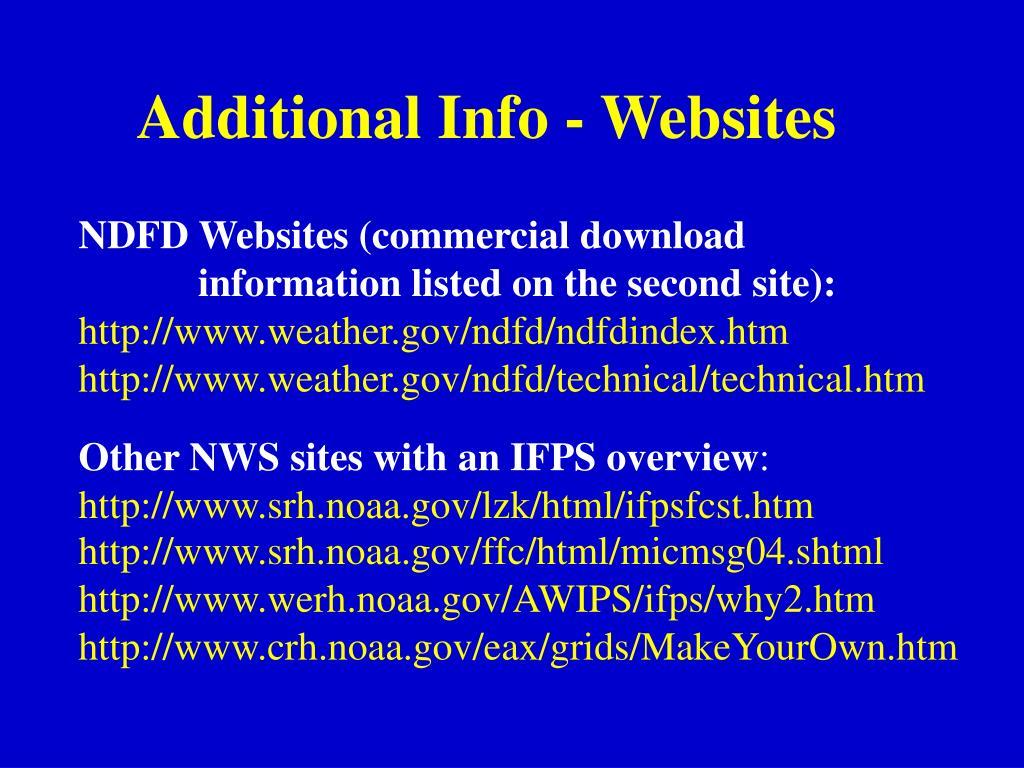 Additional Info - Websites