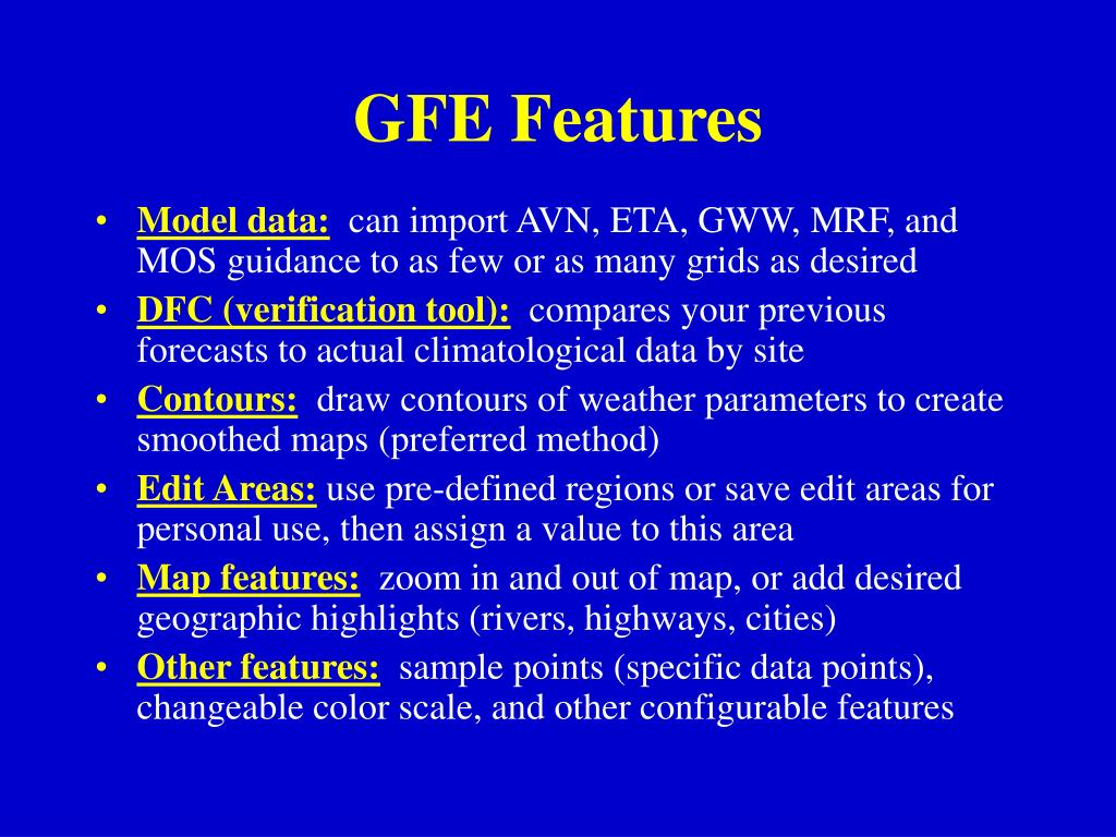 GFE Features