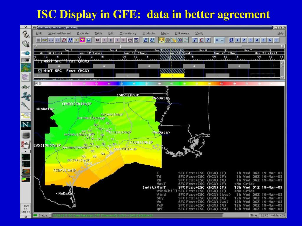 ISC Display in GFE:  data in better agreement