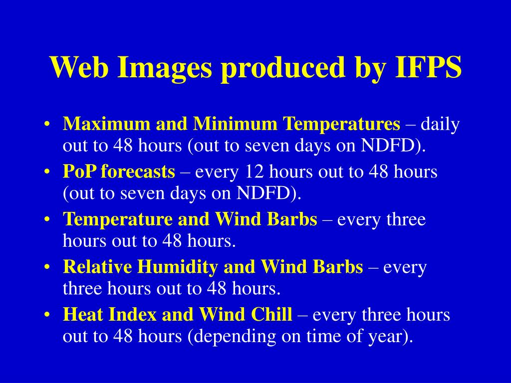 Web Images produced by IFPS