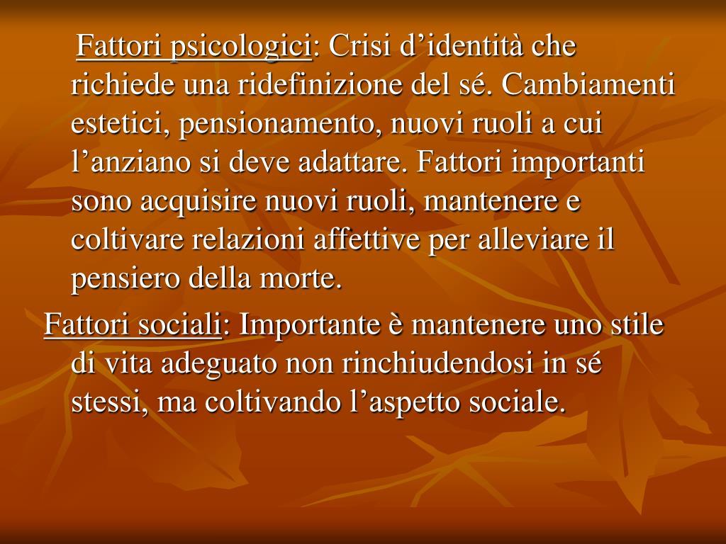 Fattori psicologici