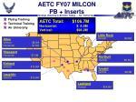 aetc fy07 milcon pb inserts