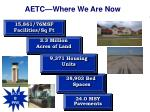 aetc where we are now
