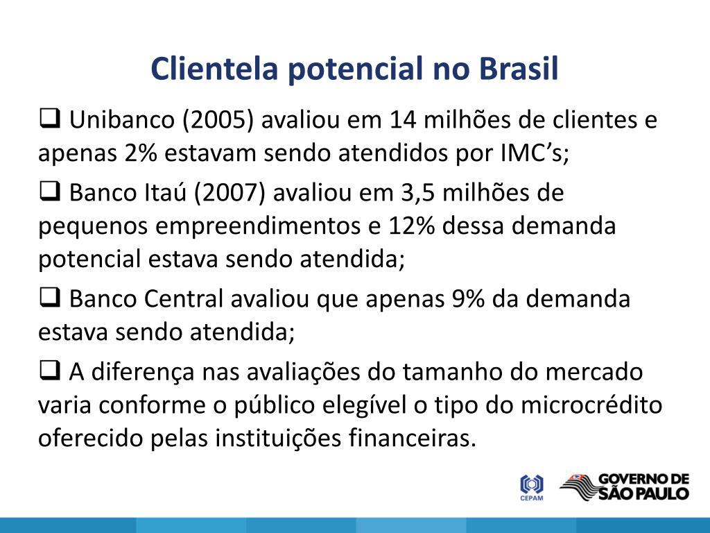 Clientela potencial no Brasil