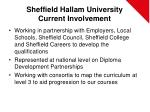 sheffield hallam university current involvement