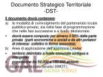 documento strategico territoriale dst
