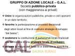 gruppo di azione locale g a l societ pubblico privata con maggioranza ai privati