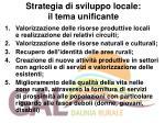 strategia di sviluppo locale il tema unificante