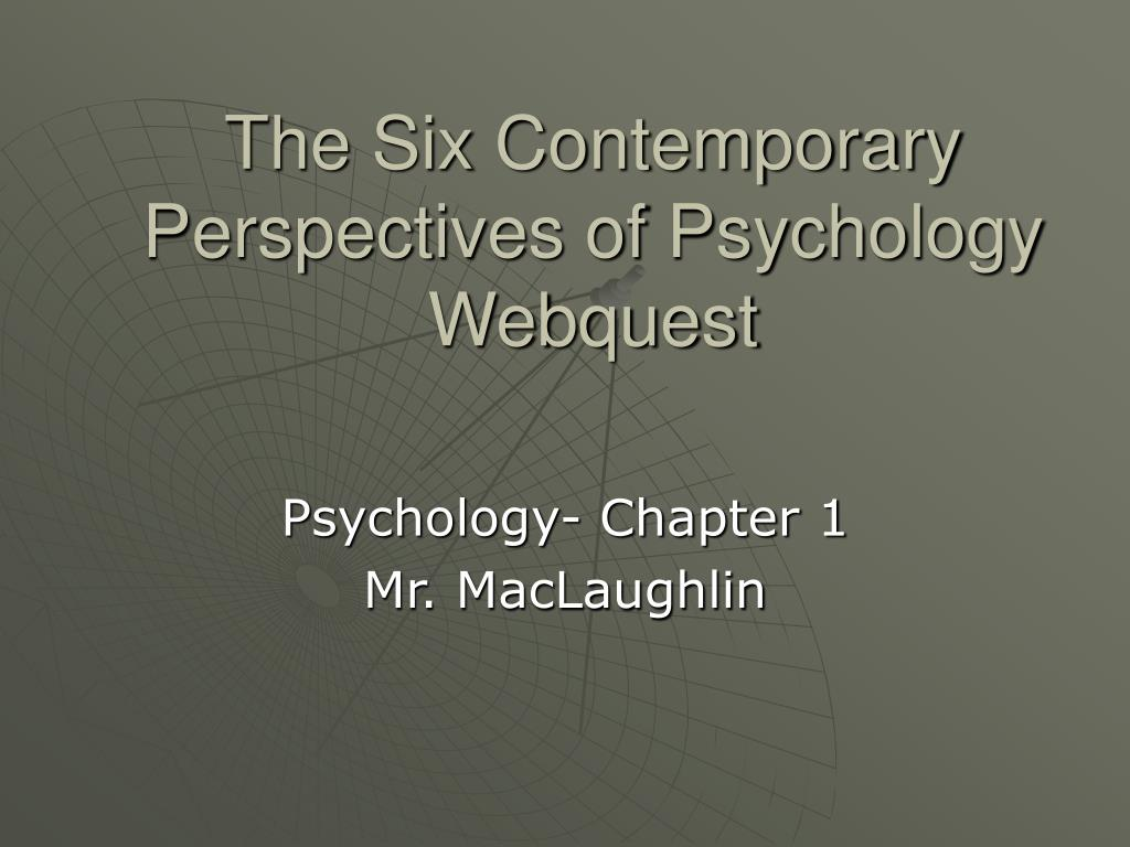 the six contemporary perspectives of psychology webquest l.