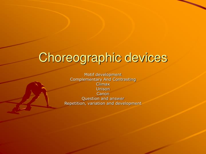 choreographic devices n.
