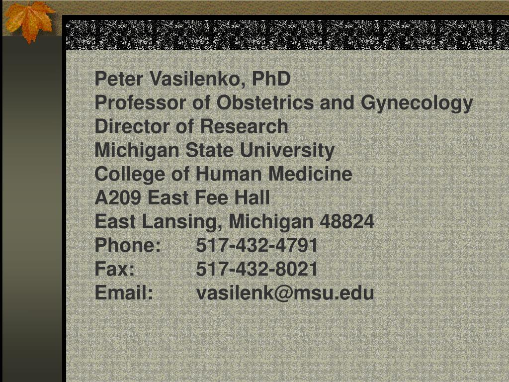 Peter Vasilenko, PhD