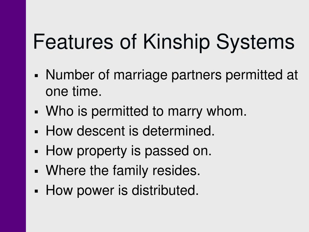 Features of Kinship Systems