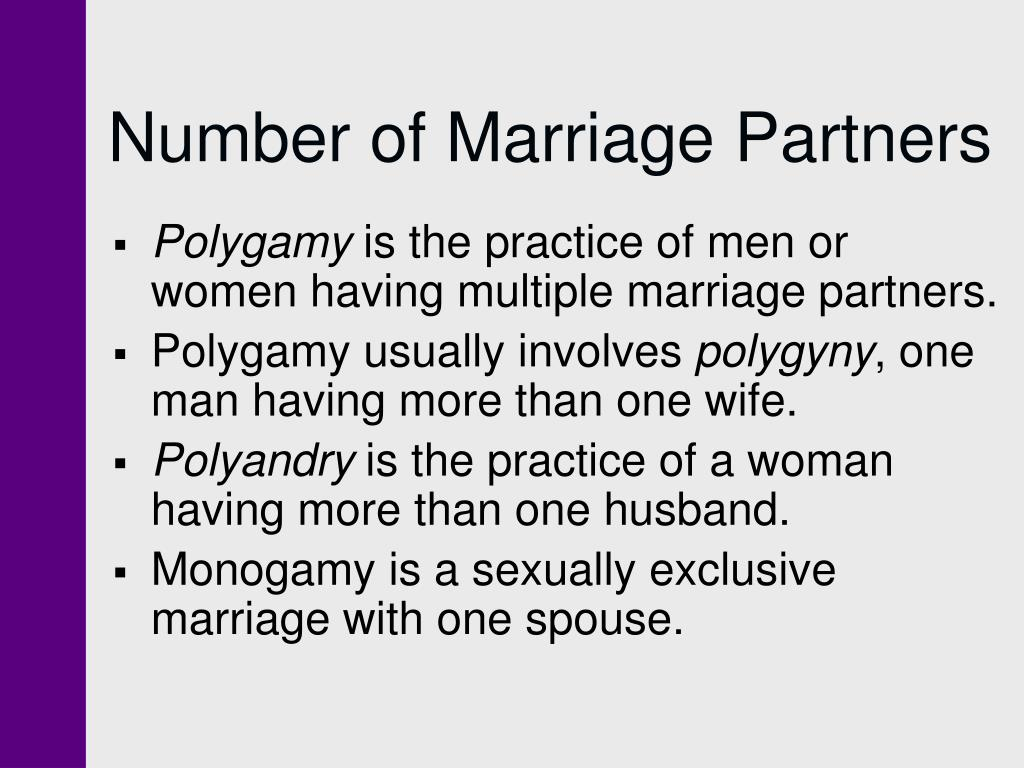 Number of Marriage Partners