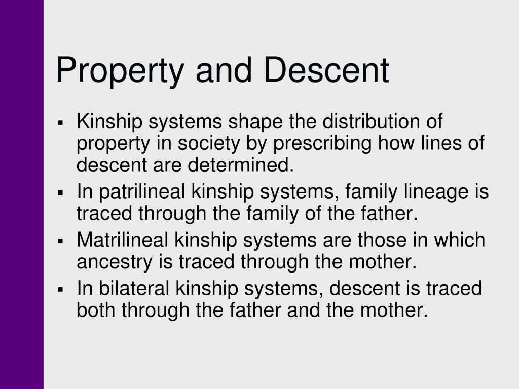 Property and Descent