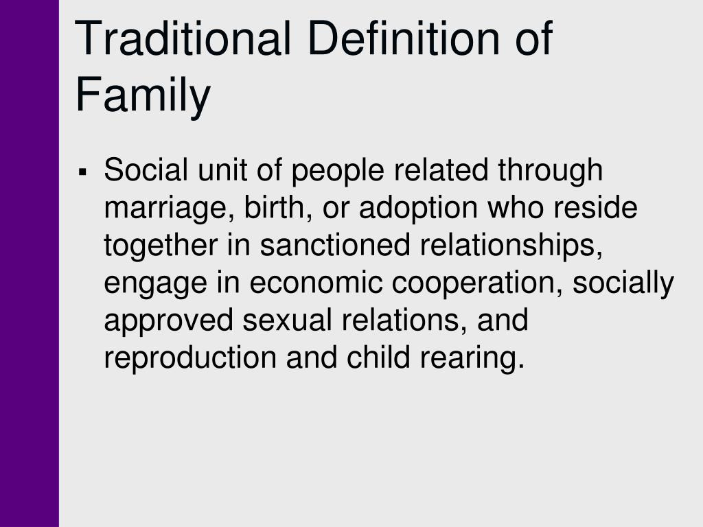 Traditional Definition of Family