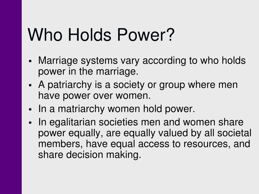 Who Holds Power?