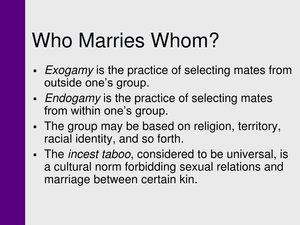Who Marries Whom?