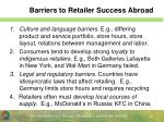 barriers to retailer success abroad