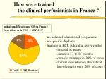 how were trained the clinical perfusionists in france