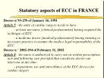 statutory aspects of ecc in france