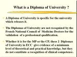 what is a diploma of university