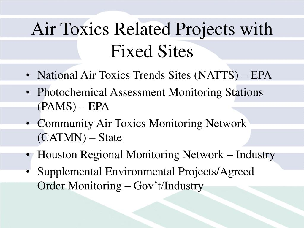 Air Toxics Related Projects with Fixed Sites