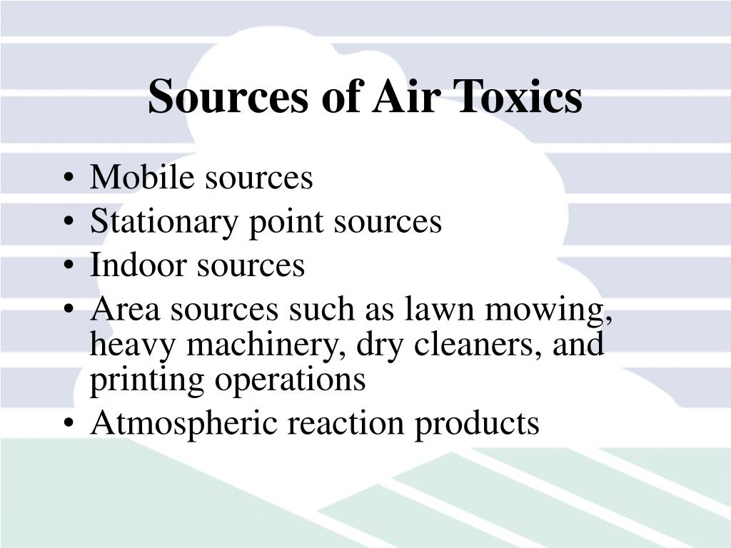 Sources of Air Toxics