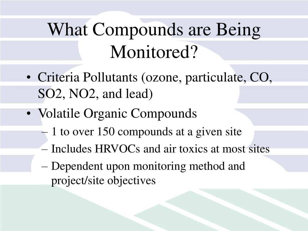 What Compounds are Being Monitored?