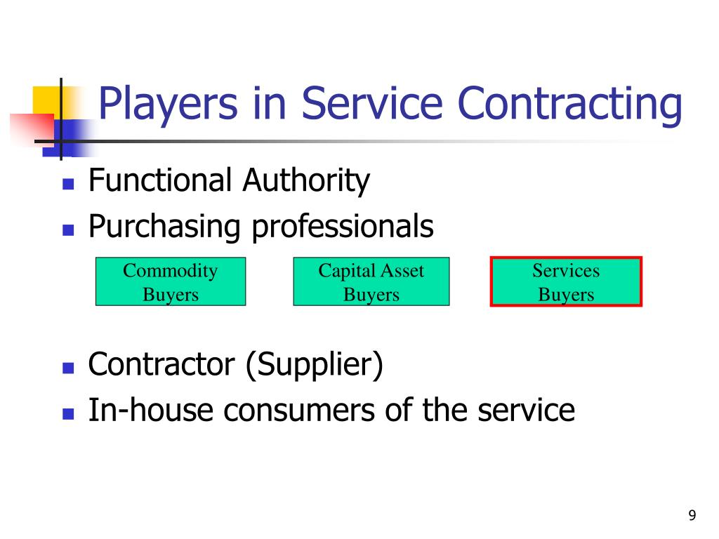 Players in Service Contracting