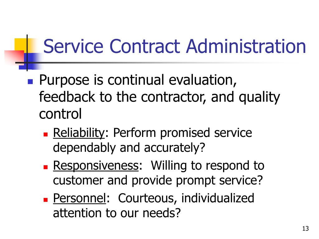 Service Contract Administration